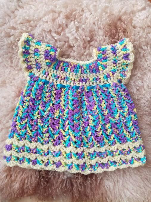 c8bae42b7561 Háčkované šaty pre novorodenca   ZM-Handmade - SAShE.sk - Handmade Šaty