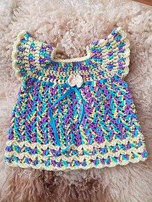 Šaty - Háčkované šaty pre novorodenca - 10429893_