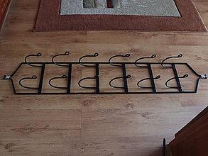 Nábytok - Vintage stojan na uteráky- čierny - 10427191_