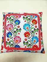 Úžitkový textil - vankúš folk- červený - 10430498_