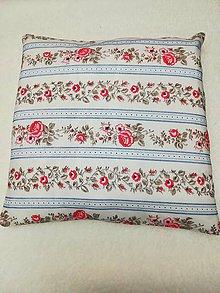 Úžitkový textil - vankúš ružičky - 10430518_