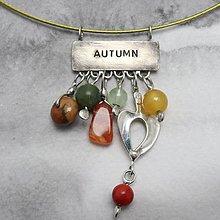 Náhrdelníky - Jeseň - náhrdelník - 10426757_