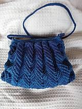Kabelky - kabelka cik cak- modrá - 10429078_