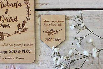 Papiernictvo - Drevené pozvanie k svadobnému stolu 2 - 10427509_