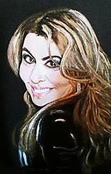 Tričká - Dámske tričko s dlhým rukávom s portrétom SHANIA TWAIN - 10428347_
