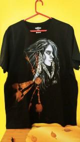 Oblečenie - Pánske tričko s indiánskym motívom - 10430318_