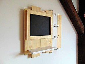 Nábytok - Vešiak na kľúče s tabulou - 10429364_