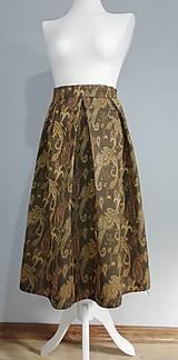 Sukne - Skladaná  sukňa s kašmírovým vzorom - 10427560_