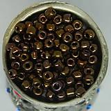 Korálky - Rokajl okrúhly 4mm metalický bronzový - 10429188_