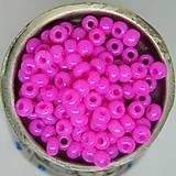 Korálky - Rokajl okrúhly 4mm nepriehľadný ružový - 10429515_