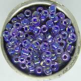 Korálky - Rokajl okrúhly 4mm s fialovým AB prieťahom - 10429748_