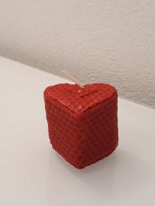 Svietidlá a sviečky - Srdiečko (Červená) - 10426427_