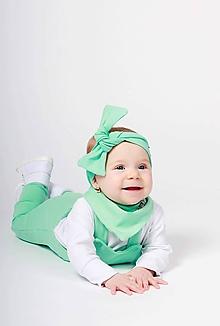 Detské oblečenie - Rastúce tepláky s trakmi  (Mäta) - 10426168_