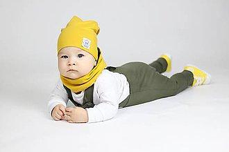 Detské oblečenie - Rastúce tepláky s trakmi  (Khaki) - 10426169_