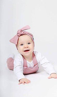 Detské oblečenie - Rastúce tepláky s trakmi  (Staroružová) - 10426170_