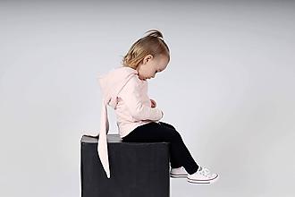 Detské oblečenie - Rastúca zajkomikina zdobená kryštálmi EIMASS® (Púdrovo ružová) - 10430463_