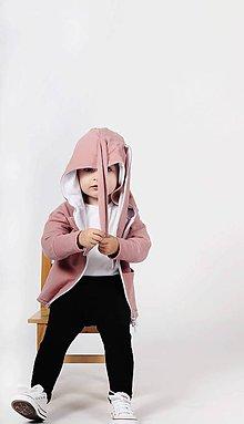 Detské oblečenie - Rastúca zajkomikina zdobená kryštálmi EIMASS® (Staroružová) - 10430469_