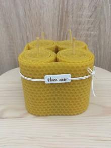 Svietidlá a sviečky - Sviečky zo 100% včelieho vosku - točená - 10427915_