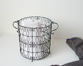 Košíky - Kôš s ušami - 10429205_