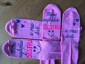 Topánočky - Detské maľované ponožky pre sestry - 10429024_