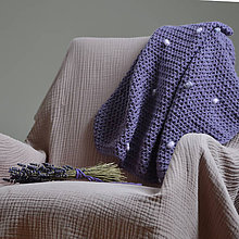 Textil - Merino dečka...fialová - 10428104_