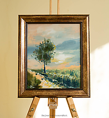 Obrazy - Maľba Strom na pustatine-originál - 10429605_