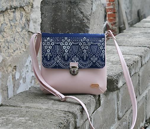 modrotlačová kabelka Ria ružová 2