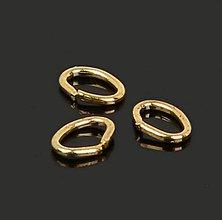 Komponenty - Krúžky/oválky na výrobuž bižutérie 5x4mm (balíček 50ks) - 10429529_
