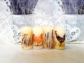 Svietidlá a sviečky - veľkonočné sviečky - 10430235_