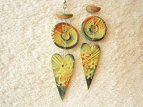 Náušnice - Náušnice z polyméru, veselo s láskou - 10426858_