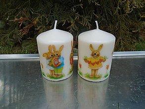 Svietidlá a sviečky - veselé zajačiky - 10426205_