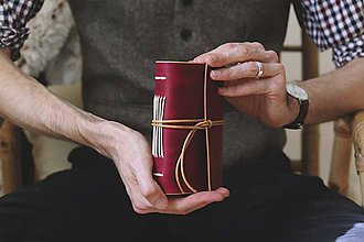 Papiernictvo - Kožený zápisník - Chevallier - 10429174_