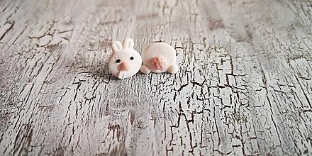 Náušnice - zajko - napichovačky (zajko s riťkou II.) - 10426340_