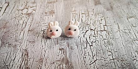 Náušnice - zajko - napichovačky (obaja zajkovia) - 10426344_