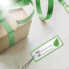 Papiernictvo - Minimalistická menovka pre deti - lístok - 10426211_