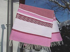 Úžitkový textil - ružový koberček - 10431770_