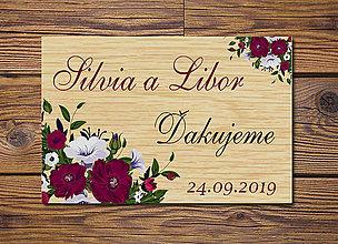 Darčeky pre svadobčanov - Svadobná magnetka - 10433137_