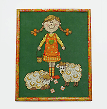 Obrázky - Výšivka - Pásla ovečky - 10431020_