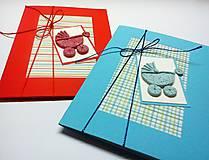 Papiernictvo - Pohľadnica ... kočiarik (Modrá) - 10433386_
