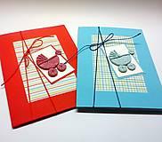 Papiernictvo - Pohľadnica ... kočiarik (Modrá) - 10433387_