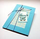 Papiernictvo - Pohľadnica ... kočiarik (Modrá) - 10433390_