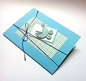 Papiernictvo - Pohľadnica ... kočiarik (Modrá) - 10433403_