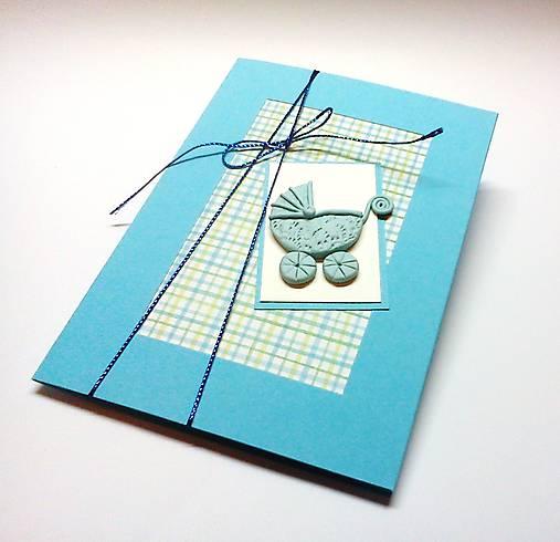 Pohľadnica ... kočiarik (Modrá)