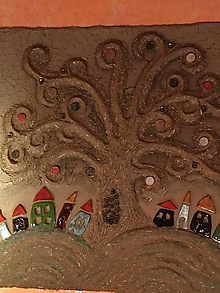 Dekorácie - dedinka v udolí... - 10434339_