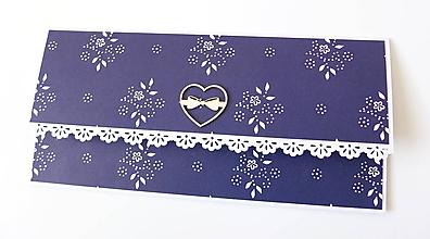 Papiernictvo - svadobná darčeková obálka na peniaze - 10430924_