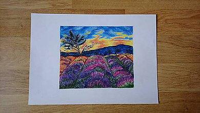 Obrázky - Levanduľový západ slnka - 10432778_