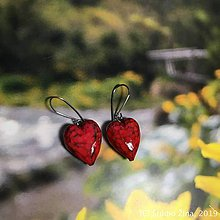 Náušnice - SrdcUšky červené - 10433717_