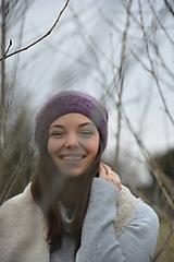 Čiapky - alpaka něžná fialová - 10433509_