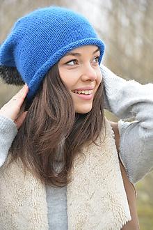 Čiapky - alpaka něžná modrá - 10433933_