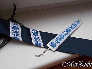 Doplnky - Folklórna kravata a náramok - 10432825_